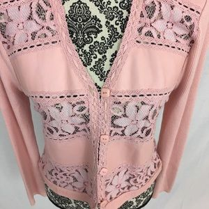 Anthropologie Sweaters - Anthropologie|  Leather & Lace Pink Sweater